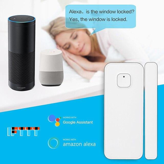 El más nuevo Sensor de la ventana de la puerta del Wifi Gap, alarma de timbre de contacto inteligente inalámbrica, Compatible con Alexa Google Home Automation