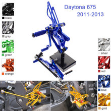 цены CNC Aluminum Adjustable Rearsets Foot Pegs For Triumph Daytona 675 Daytona675 2011 2012 2013