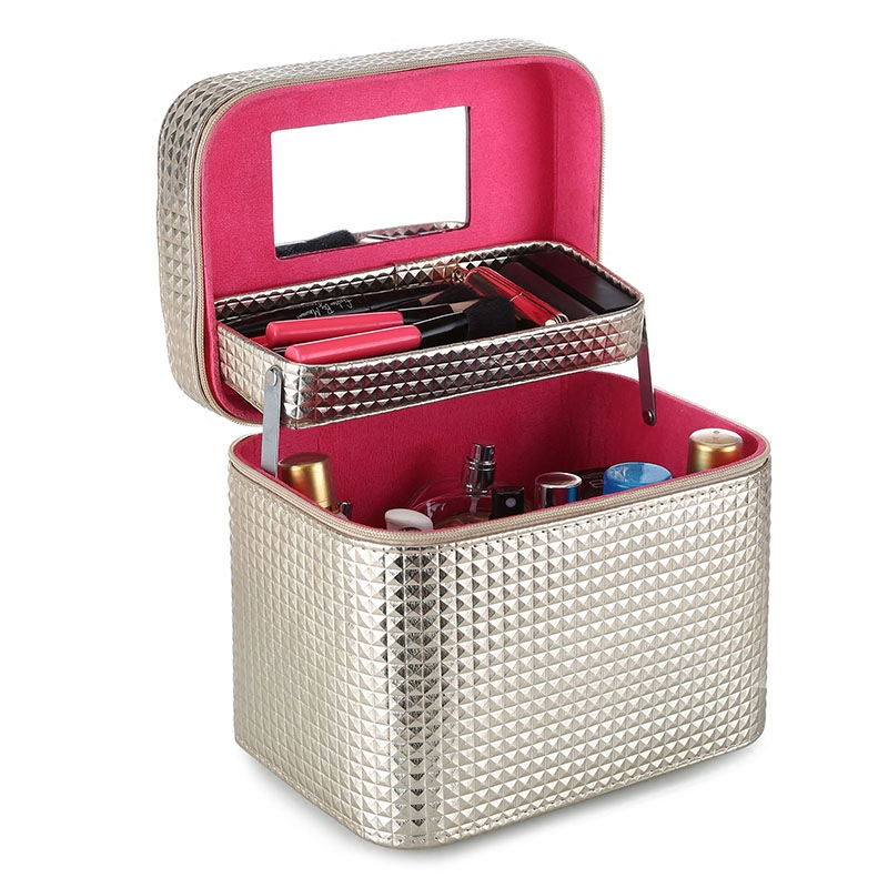 New Style High Quality Fashion Large Capacity Multi functional Portable Simple Portable Lovely Storage Box Cosmetic
