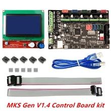 V1.4 3D kit de impresora con MKS MKS Gen Gen V1.4 RepRap junta + 5 UNIDS TMC2100 Conductor + 12864 Gráfico LCD
