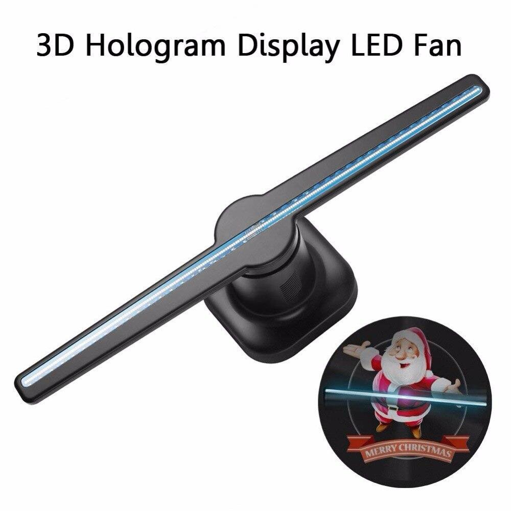 Ausida 42 см 3d Голограмма рекламный светодиодный вентилятор