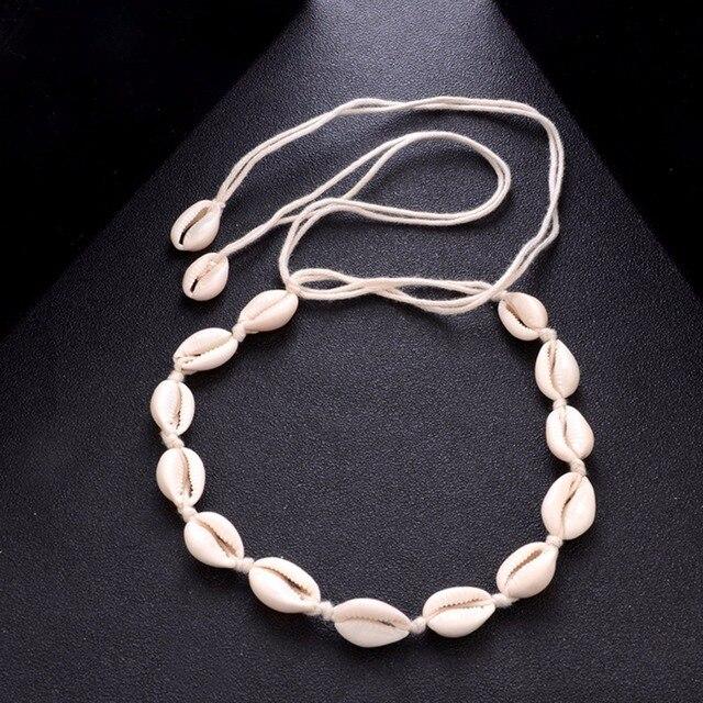 Богемное пляжное ожерелье с кисточками из натуральной морской раковины колье-цепочка ожерелье воротник Бохо женские летние пляжные украшения Shellhard