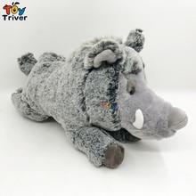 Simulation Plush Wild Boar Sus Scrofa Pig Toy Doll Stuffed Animal Baby Boy Kids Birthday Gift Present Shop Home Decor Triver