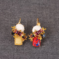 New Arrivals Be Listed Earrings France Major Suit Ear Hook Eardrop Enamel Glaze Two Color Bees Ornaments