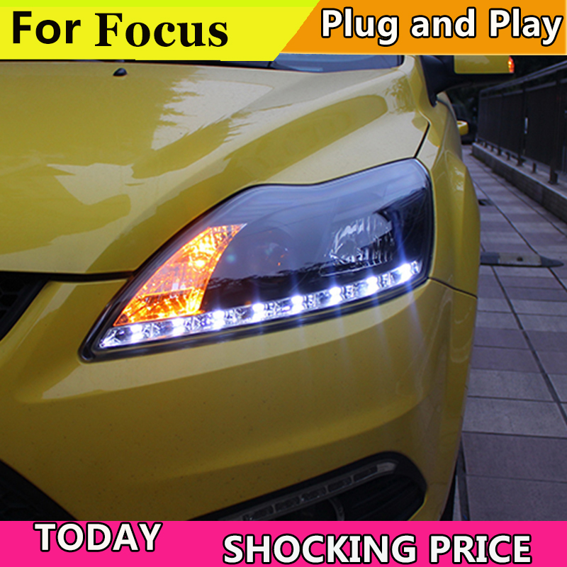 Car Styling Headlights for Ford Focus 2009 2011 LED Headlight for Focus Head Lamp LED Daytime