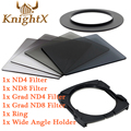 KnightX Graduated Full Neutral Density filtro nd lens camera color filter Kit For Cokin P for Nikon Canon D5200 d3300 d5100 100d