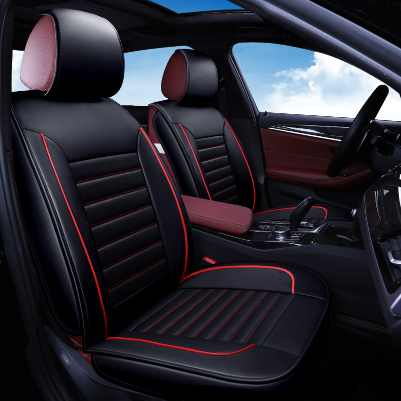 Siège auto en cuir synthétique polyuréthane housse auto accessoires 2 pièces pour VW Amarok Arteon Bora CC EOS gol Golf Variant Golf iv v vi vii