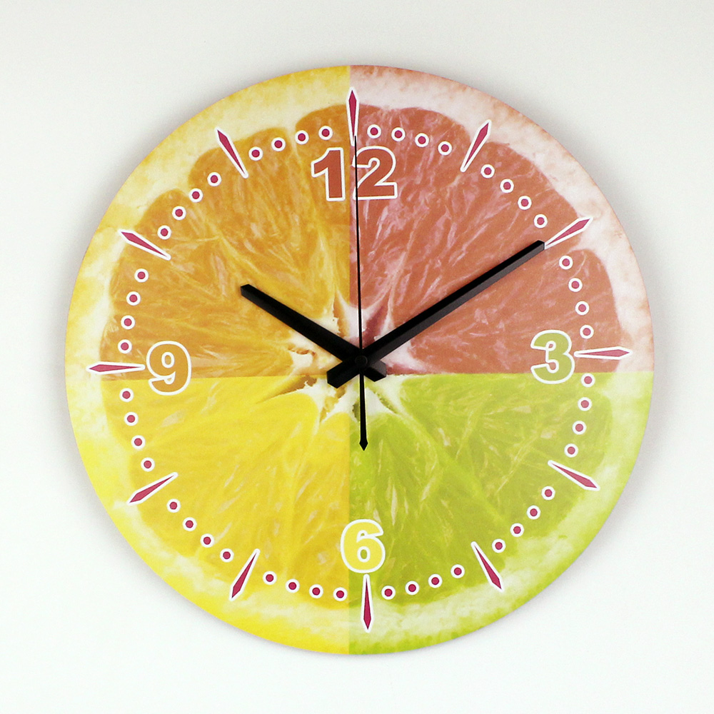 ee33aecd080d8 الحديثة الليمون الجدار الديكور ساعة الحائط مع ماء وجه الساعة أزياء جميلة  المنزل الديكور المطبخ ساعة الحائط ووتش