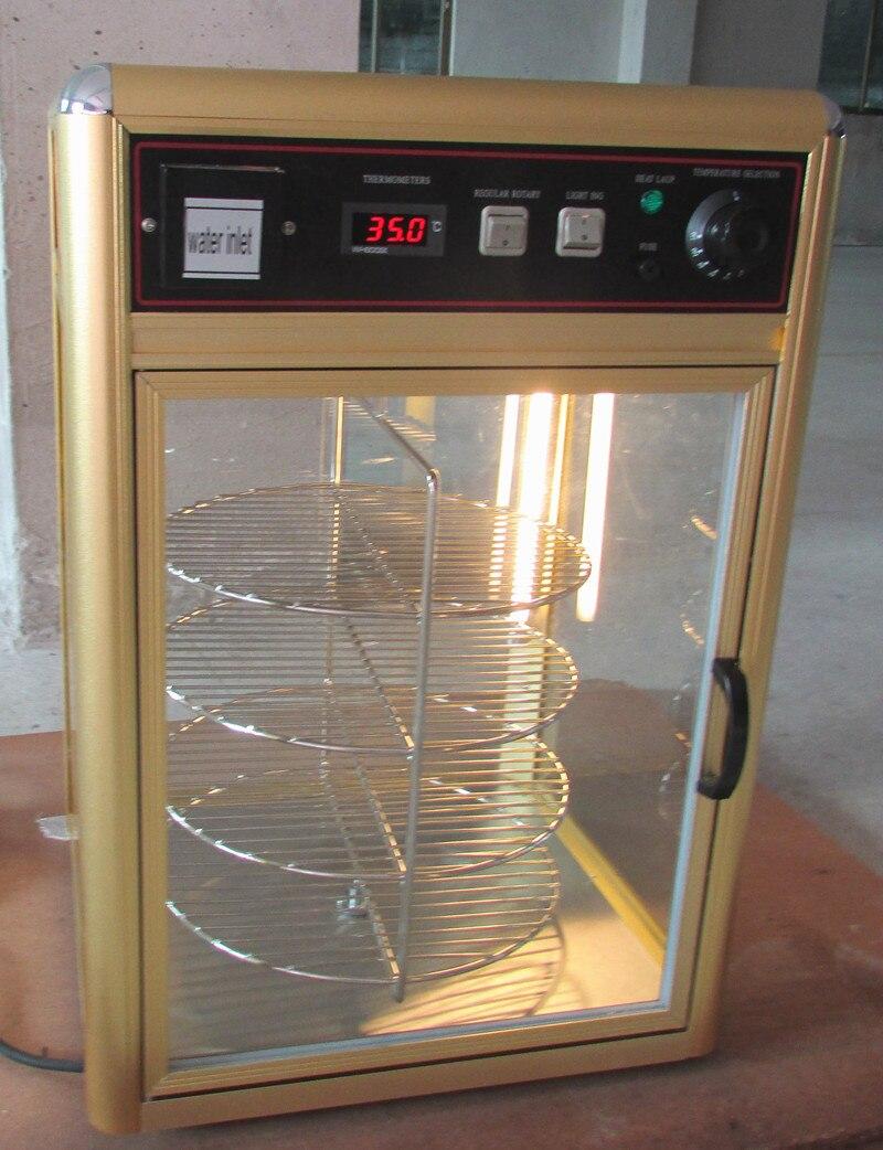 Pizza Pizza elétrica rotativa gabinete mais quente com humidifying & umedecendo rotay aquecimento hidratante equipamento de exibição showcase - 2