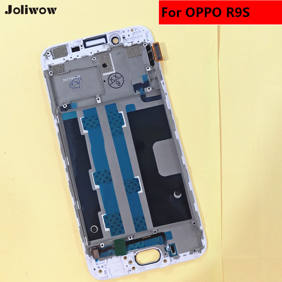 Mobile Phone Lcds For Oppo R9s Touch Screen Digitizer Glass Lcd Display Assembly With Frame Free Shipping Tools
