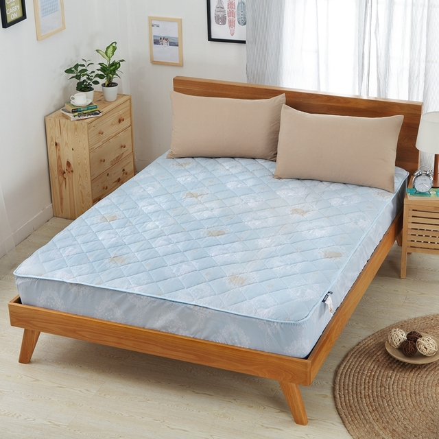 Colored Bed Mattress Toppers Protector Quilted Ed Sheet Mat Cover Waterproof Single
