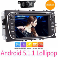 7018B Android 5 1 2 Din Car DVD Gps Player For FORD FOCUS MONDEO 2013 2014