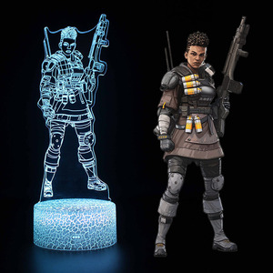 Image 5 - 10 styles Apex Legends Lamp Bangalore/Gibraltar/Mirage Action Figure Night Light Luminous toys For Apex Legends Gamers Xmas gift