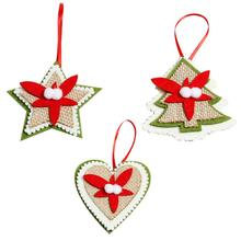 Non-woven Fabric 3D Christmas Tree Decoration Pendent For Inventory Clearance