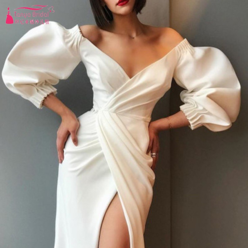 Summer New Style Graduation Dresses With Puff Sleeves 140cm Length Formal Homecoming Dress Gown DQG953