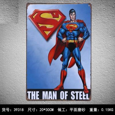 SuperMan tin Signs Gift Kids room Wall art Painting Vintage Tin poster, Bar, Home Decor, Man Cave 20*30cm