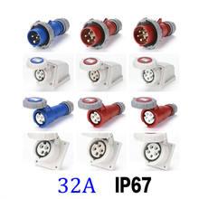 32a ip67 водонепроницаемая электрическая промышленная розетка