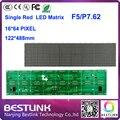 F5 matrix led módulo painel de led board 16 * 64 dot 122 * 488 mm p7.62 single red display led placa de tela placa do sinal levou eletrônico diy