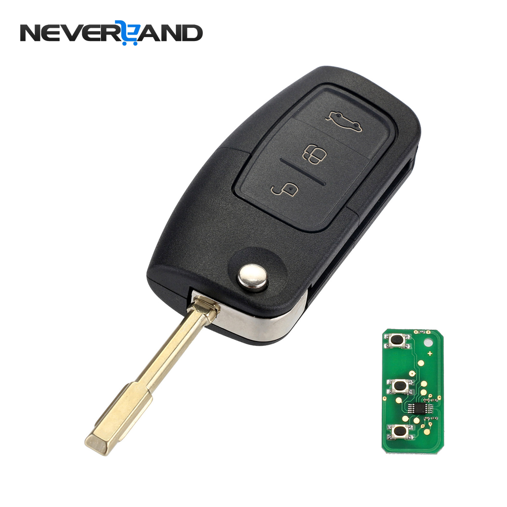 3 Button 433MHz 4D60 Chip Entry Fob Remote Car Key for FORD Mondeo Focus Fiesta New Key Shell Case for Car D25