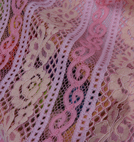 1Yard High Quality Pink Swiss Cotton Silk Voile Fabric African Floral Silk Lace Fabrics Sewing Accessories