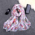 [DRESSUUP]Newest Warm Women Flower Voile Scarf Female Peony Print Scarves Winter Plants Infinity Large Shawl Wrap echarpe femme