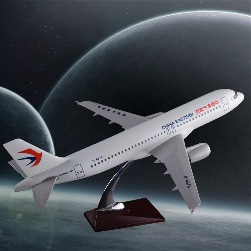 47cm Resin Aircraft Model 1:100 China Eastern Airlines A320 Airplane Model Chinese Eastern Airway Airbus Scale Model Collectible spike wings xx4391 jc china eastern airlines b 5902 a330 200 green 1 400 commercial jetliners plane model hobby