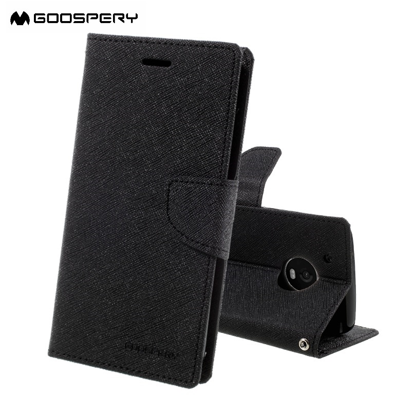GOOSPERY Phone Bag for Motorola Moto G5 Plus MotoG5 MotoG5plus Fancy Diary PU Leather Folio Case Card Holder Mobile Protector