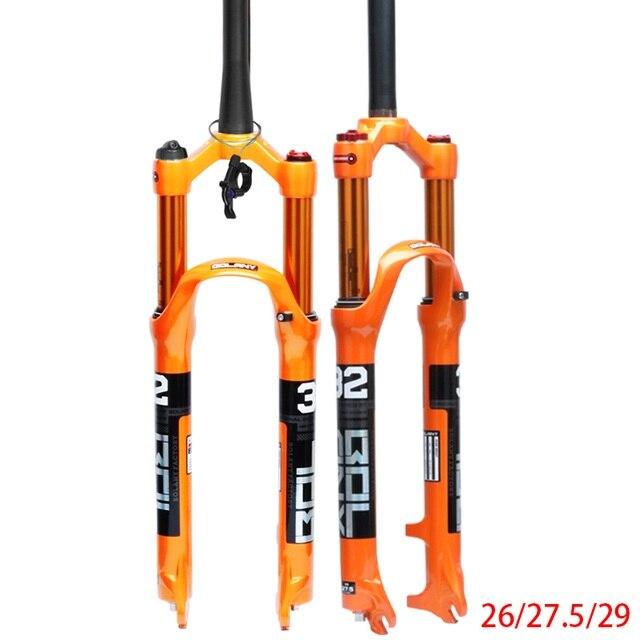 Suspension pneumatique en alliage de magnésium pour fourche de vélo vtt 26 27.5 29er pouces 32 HL RL100mm verrouillage de la fourche de vélo pour accessoires de vélo