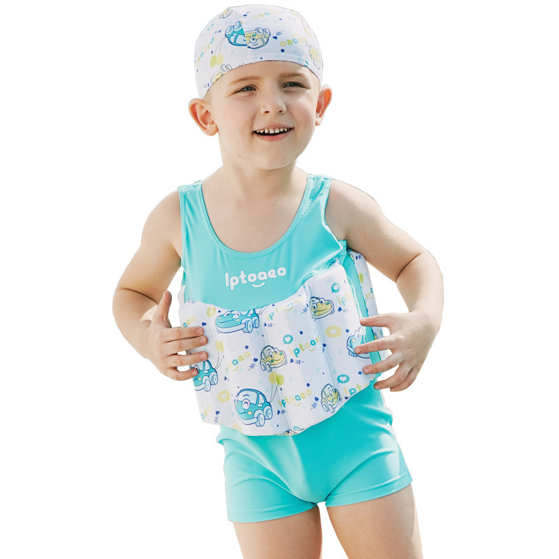 ca5f69f874 SABOLAY Children's Swimwear Boys Swimsuit Buoyancy Surfing Floating  Swimming Clothes Bathing Suit Toddler Swim Vest Rash Guard-in Children's  One-Piece Suits ...