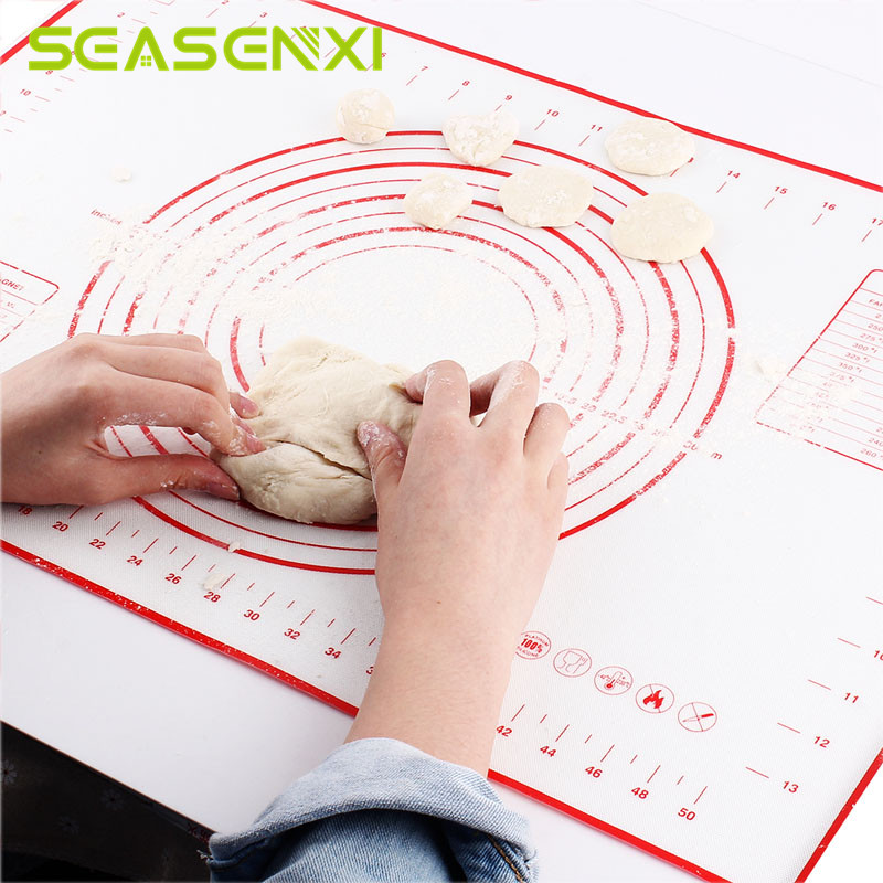 Silicone Baking Mats Sheet Pizza Dough Non-Stick Maker Holder Pastry Kitchen Gadgets Cooking Tools Utensils Bakeware Accessories(China)