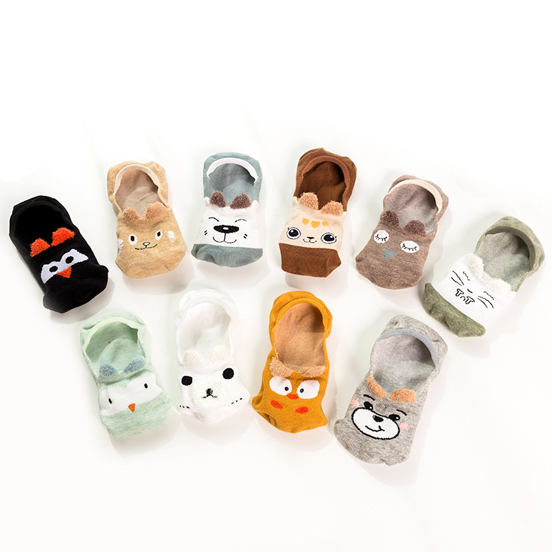 Summer New Socks Women's Cotton Cartoon Invisible Socks Japanese Wild Invisible Socks