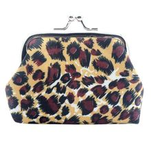 Vintage Leopard Small Wallet Fashion Small Satin cloth Purse Coin Purse Bag Women Lady Retro  Hasp Purse Clutch