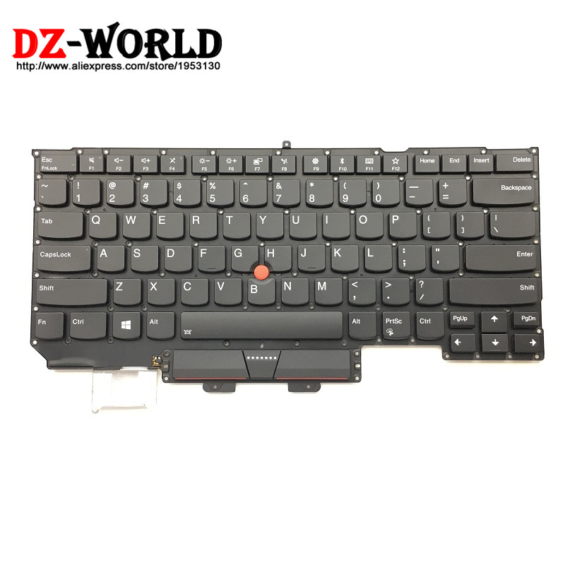 2017New Original for Lenovo Thinkpad X1 Carbon 5th Keyboard US English Backlit backlight Teclado 01ER623 SN20M08031 2017new 100cm 100