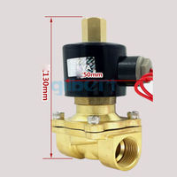 DC12/24V AC110/220V 3/4BSPP Normally Open Brass Gas Oil Water Solenoid Valve