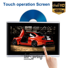 2pcs 10.1 inch Headrest Monitor DVD Player Car Rear Seat Media DVD Player with FM/IR/USB/SD(MP5)/Support Wireless game/1080P threecar headrest dvd player 10 1 inch hd wide headrest monitor usb sd luxury leather wrapped portable dvd media player