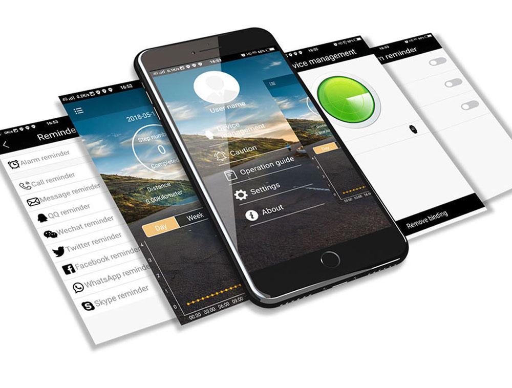 7 Montre intelligente numérique pour ios téléphone Android