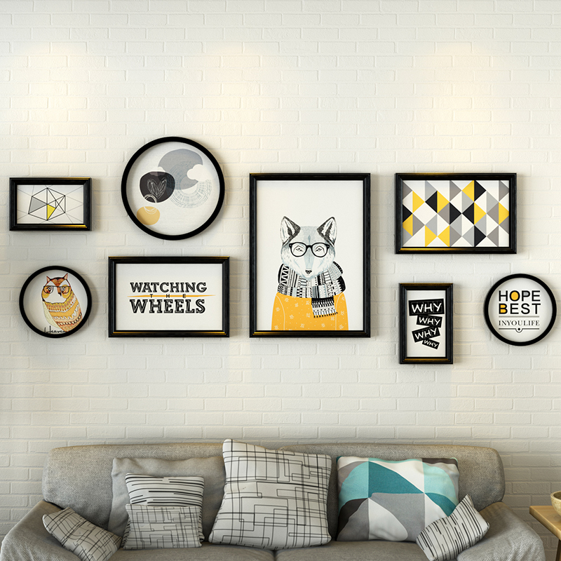 8pcsset collage photo frame combinationround picture frame wallwedding photo frames