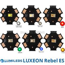 10x LUMILEDS Rebel ES 3W High Power LED Light Emitter Chip Diode, White Warm White Red Green Royal Blue Color on 20mm PCB(China)