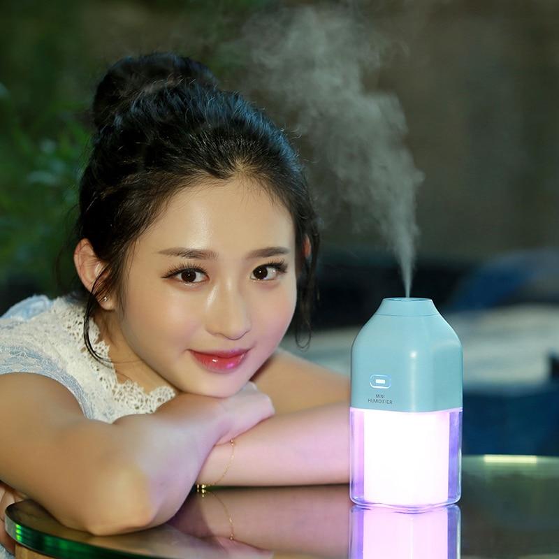 GXZ Energy Bottle USB Ultrasonic Humidifier 1200mah Battery LED Lights Air Humidifiers Mist Maker Mini Home Cup Air Purifier цена и фото