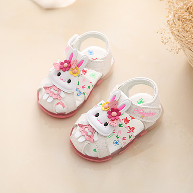 1b57b987c Child Baby Girls Sandals Toddler Summer Shoes Kid Cute Flower Sandals  Infant Flat Princess Shoes 0-3 Years