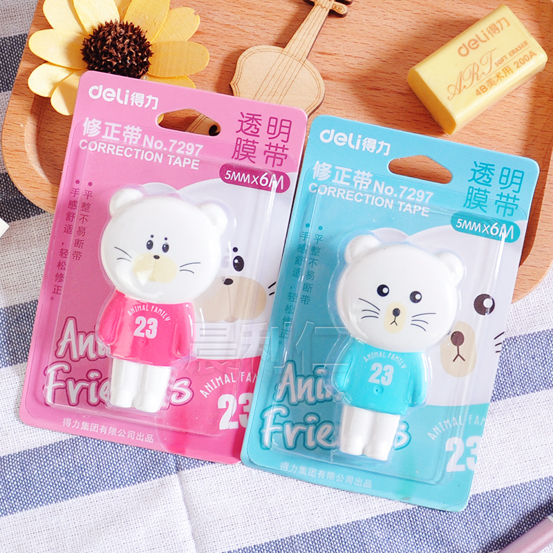 Deli 7297 Cute Animal Cat Lovely 6mm Correction Tape Sweet Stationery Novelty Design Office School Home Supplies DropShipping