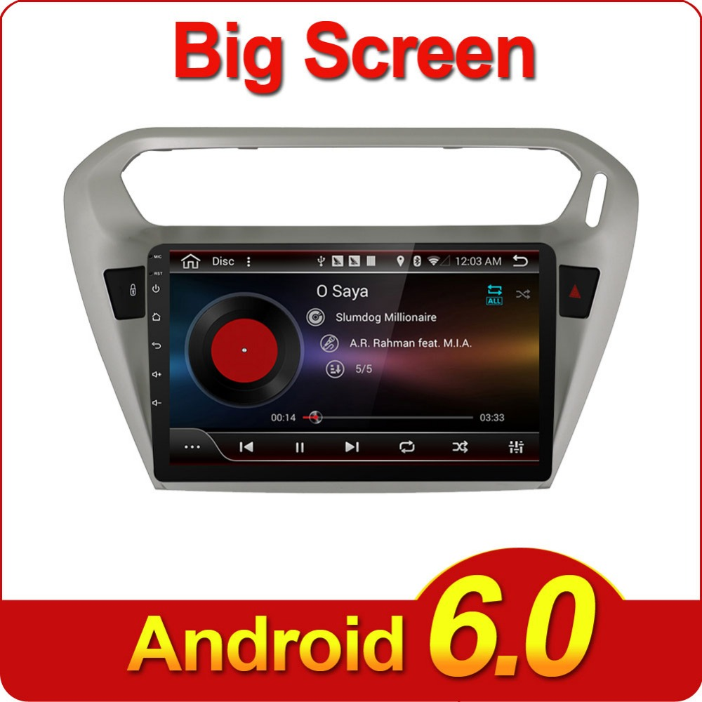 9 double 2 din android 6 0 car radio player for peugeot 301 car radio stereo