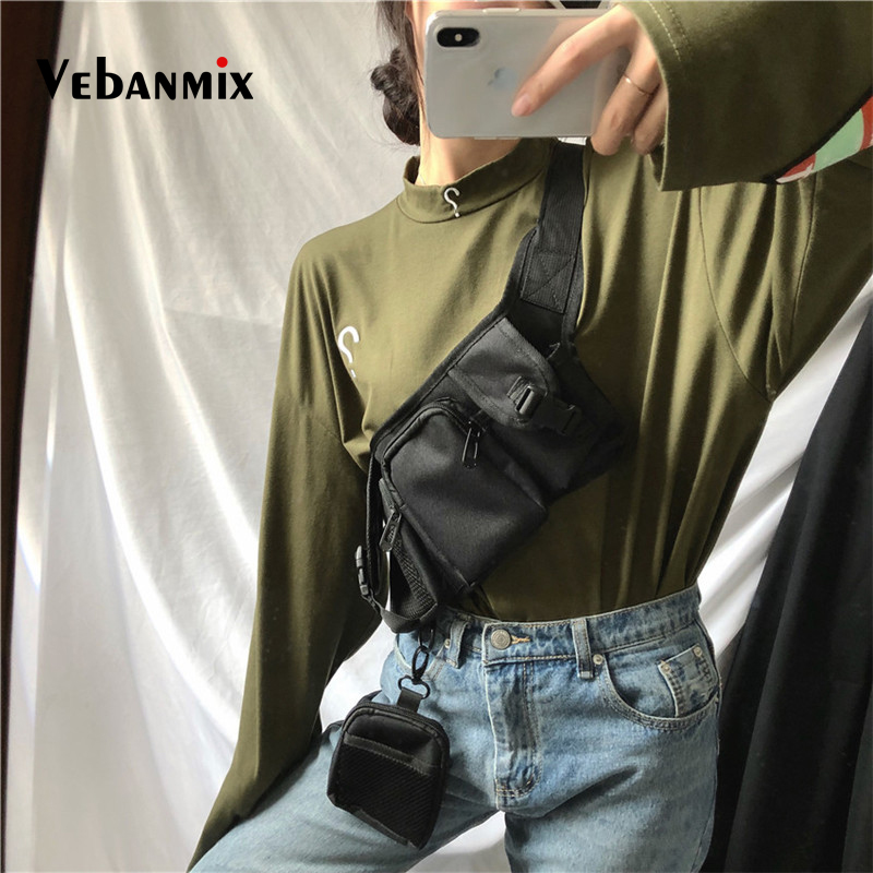 Unisex Waist Pack Fashion Hip Hop Streetwear Functional Tactical Chest Bag For Men Women Cross Shoulder Bags Hip Bum Bag