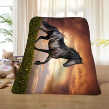 P#129 Custom Horse#38 Home Decoration Bedroom Supplies Soft Blanket size 58×80,50X60,40X50inch SQ01016@H+129