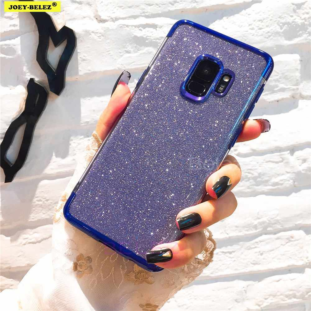 Glitter Plating Silicone Phone Cases for Samsung Galaxy Note 9 8 J4 J6 A6 A8 Plus 2018 S9 S8 S6 S7 Edge J5 J3 J7 A5 A7 2016 2017