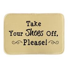 Take Your Shose Off Please Doormat Cute Rubber Door Mat font b Indoor b font Outdoor