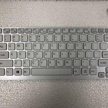 Новая белая клавиатура США для SONY Vaio E14 SVE14 SVE141 SVE 14 SVE14111ELW серии без подсветки клавиатуры ноутбука