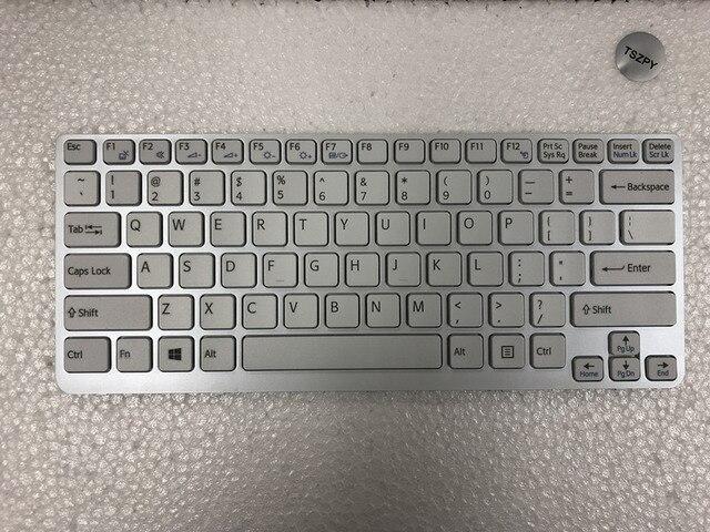 New US white Keyboard For SONY Vaio E14 SVE14 SVE141 SVE 14 SVE14111ELW series No Backlit Laptop Keyboard