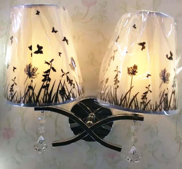 Chinese Modern Fabric Wall Lamp Is Suitable For Home Bedroom Living Room Hotel Room Hall