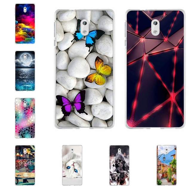 new concept a499f c9b6f US $0.88 20% OFF|For Funda Nokia 3 Cover Case For Mobile Phone Nokia 3 Case  animal Silicone Soft TPU Back Cover For Nokia3 5.0